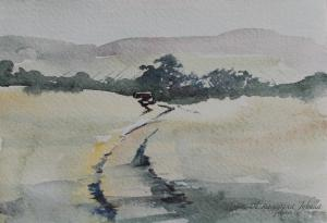 Watercolor: Landscape miniature