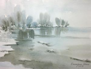 Watercolor: The thaw