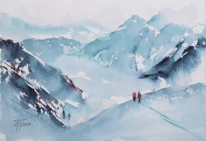 Watercolor: In the Mountains