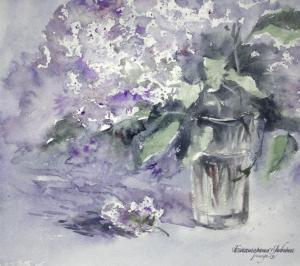 Watercolor: Lilac