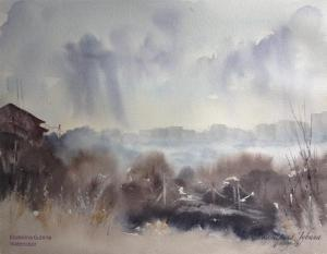 Watercolor: After the rain