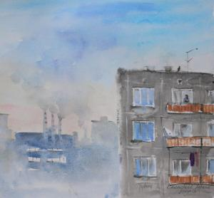 Watercolor: City