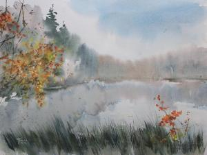 Watercolor: The beginnig of Autumn