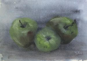 Watercolor: Apples