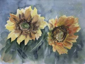 Watercolor: Sunflowers