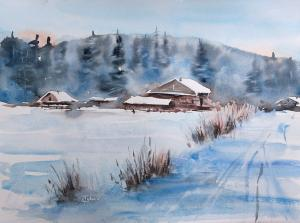Watercolor: Winterscape