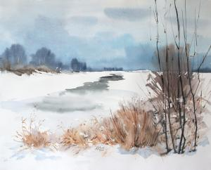Watercolor: The beginnig of Spring