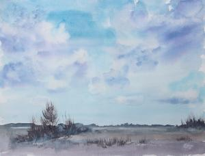 Watercolor: Spring Sky