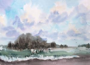 Watercolor: Spring Day