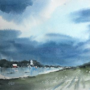 Watercolor: Before the rain