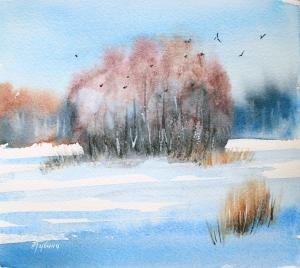 Watercolor: Winter Day