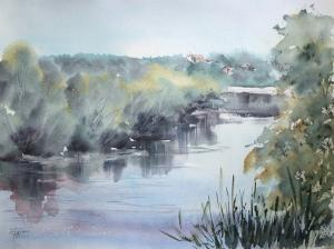 Watercolor: Pakhra River