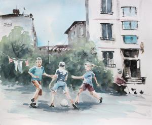 Watercolor: Football