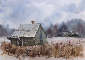 Watercolor: Abandoned places