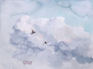 Watercolor: Clouds