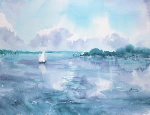 Watercolor: The Lake (fantasy)