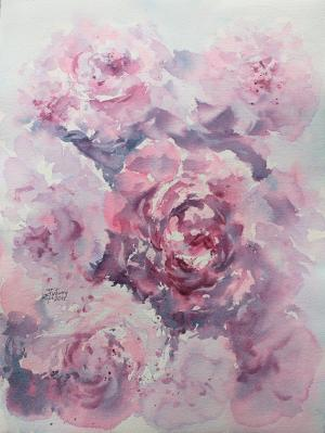 Watercolor: Peonies #1