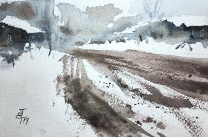 Watercolor: The Road