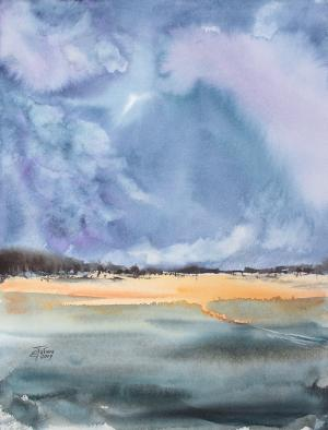 Watercolor: After a thunderstorm #2
