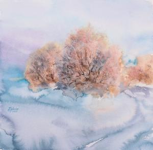 Watercolor: Winter colors