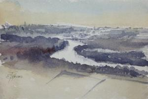 Watercolor: Landscape, miniature